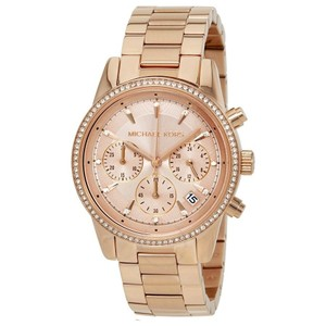 Michael Kors Michael Kors Women's Ritz Rose Gold-Tone Chronograph Watch MK6357