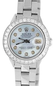 Rolex Ladies Stainless Steel 26MM Rolex Datejust Diamond Watch 2.5 Ct