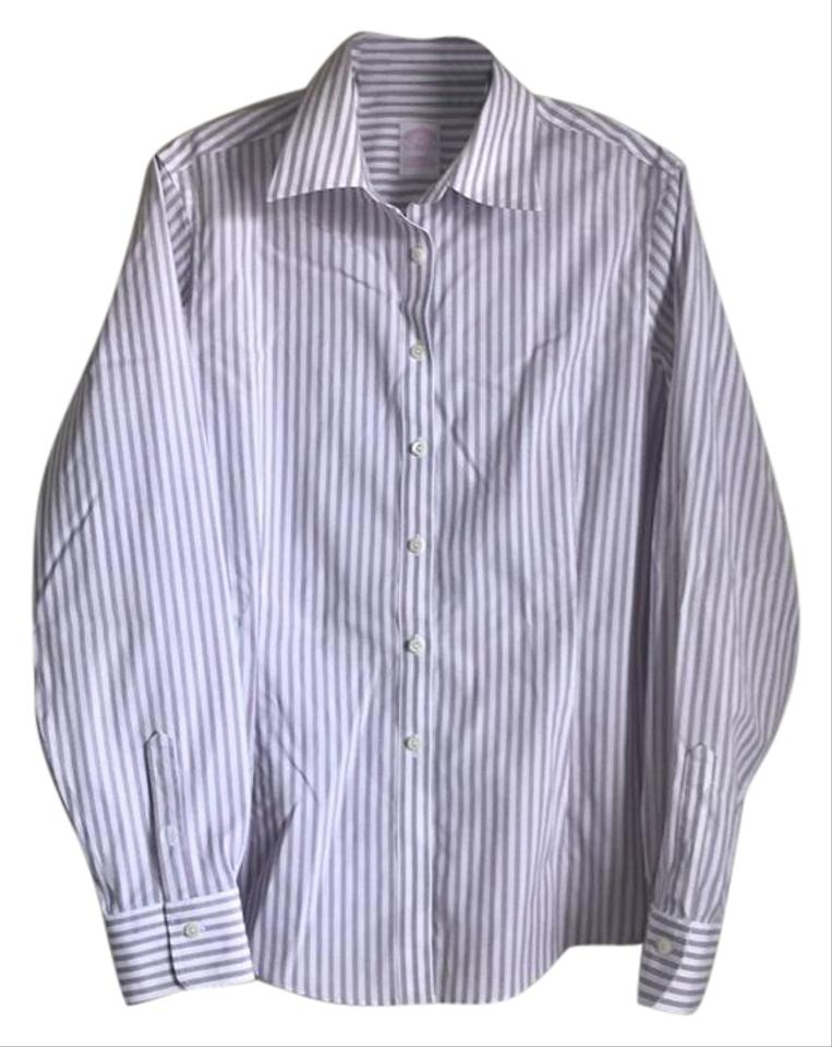 Brooks brothers white lavender stripe non iron tailored for Brooks brothers non iron shirt review