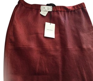 Isabel Marant A-line Pleated Mini Skirt Red