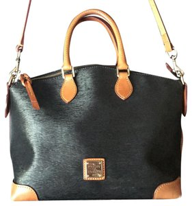 Dooney & Bourke Satchel in Black/Tan