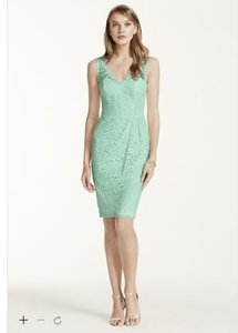 David's Bridal Mint F15952 Dress