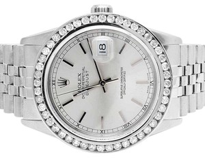 Rolex Mens Rolex Datejust Quickset 16014 Oyster 36MM Diamond Watch 3.0 Ct