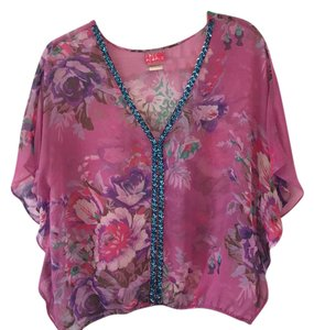 Free People Top Pink / Multi-Color