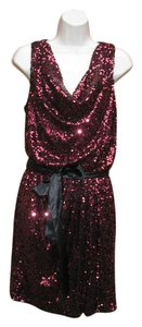 Cache Sequin Date Mini Party Dress