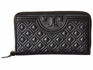 Tory Burch Tory Burch Fleming Quilted Leather Zip Around Continental Wallet Bag