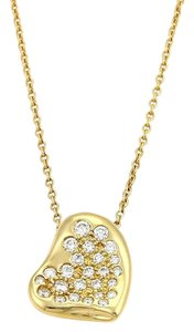 Tiffany & Co. Tiffany & Co. Peretti 18k Yellow Gold Curved Heart Pendant Necklace