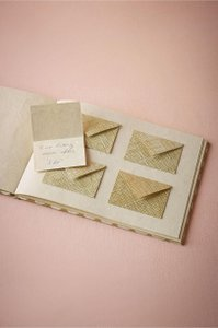 BHLDN Gold Pattern Guestbook with Mini Envelopes Reception Decoration