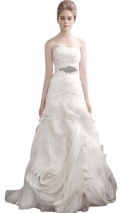 Vera Wang Organza Fit And Flare Gown With Bias Flange Skirt - Style Vw351011 Wedding Dress