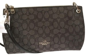 Coach New With Jacquard Signature Fabric Cross Body Bag