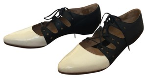 John Fluevog black and cream Flats
