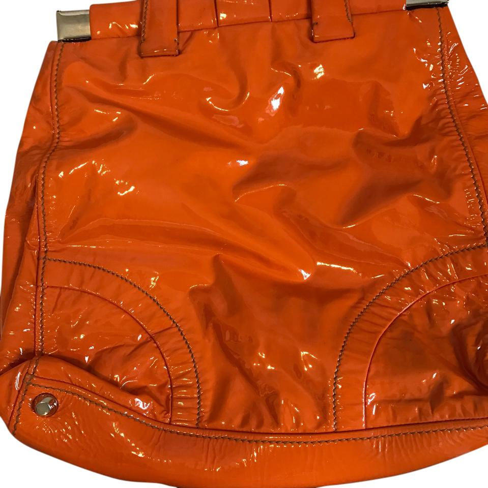 626c3ba2e265 Miu Miu Orange Patent Leather Tote - Tradesy