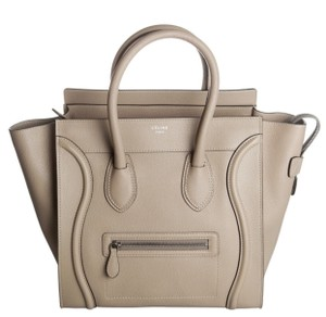 Cline Luggage Mini Luggage Luggage Tote in Sand Beige Celine