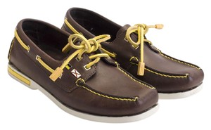 Louis Vuitton Boat Lv Cup Loafers Brown, Flats