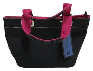 Kenneth Cole Reaction Tote in Black and hot pink