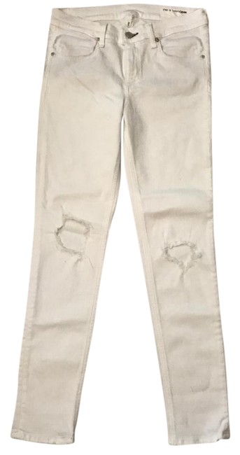 Item - White Distressed Capri/Cropped Jeans Size 28 (4, S)