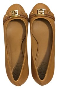 Tory Burch Royal Tan Wedges