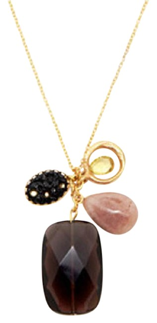 Item - Shades Of Brown and Gold Charm Necklace
