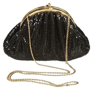 Whiting and Davis Black Clutch
