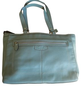 Coach Tote in Blue green