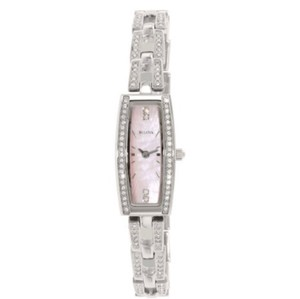 Bulova BULOVA Crystal Pink Mother of Pearl Dial Stainless Steel Ladies Watch