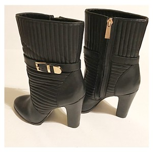 Vince Camuto BLACK / GOLD TONE Boots