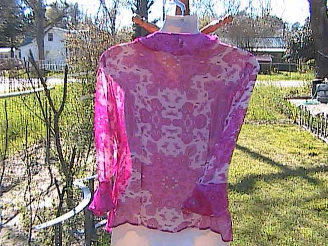 Other Pink Ruffles Long Sleeve Top Floral