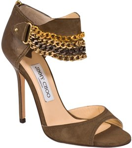 Jimmy Choo Khaki Sandals
