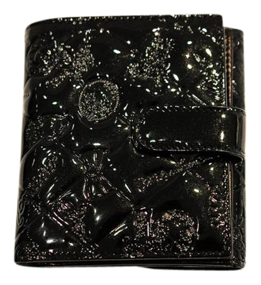 Chanel black quilted patent embossed symbols lucky charms wallet chanel quilted patent embossed symbols lucky charms wallet biocorpaavc Image collections