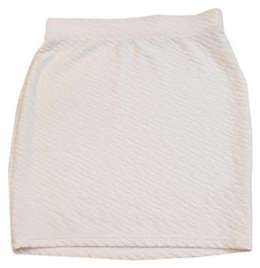 Free People Mini Skirt Creme