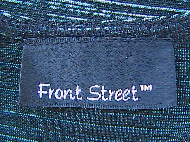Front Street Top Sparkly Dark Green