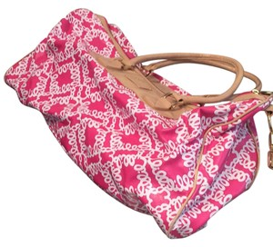 Lilly Pulitzer pink and tan Travel Bag