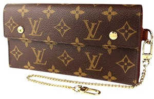 Louis Vuitton Auth LV Accordeon Monogram Wallet with LV Box and Dustbag