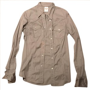 True Religion Button Down Shirt grey