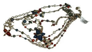Chanel Pearls Beads Terrazzo CC Double Strand Opera Long Necklace