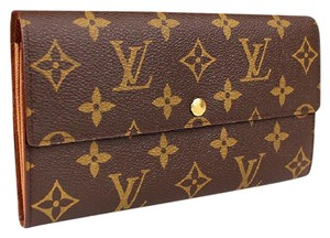 Louis Vuitton Auth LV Porte Monnaie Credit Monogram with Box& Dustbag