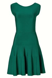 ISSA London A-line Short Ribbed Knit Dress