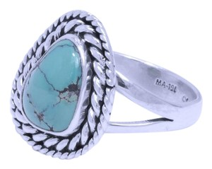 Other Vintage Inspired Taxco Sterling Silver & Turquoise Ring