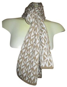 Michael Kors NEW* MICHAEL KORS SCARF WOMEN'S OSFA S M L XL $58 Reversible Tan White