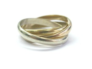 Cartier Cartier 18KT Cartier Trinity 3-Color Multi-Tone Ring 2.6mm Sz 51