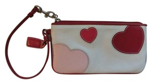 Coach Wallet Heart Wristlet in white, pink, red