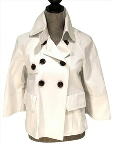 Marvin Richards Size Small Trench Coats Spring White Jacket