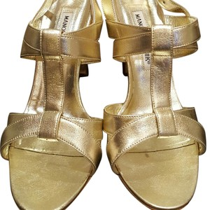 Manolo Blahnik Perfect Gold Formal