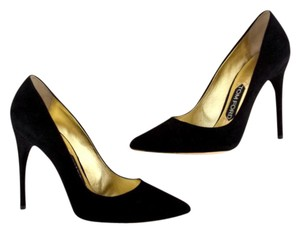 Tom Ford Classic Suede Black Pumps