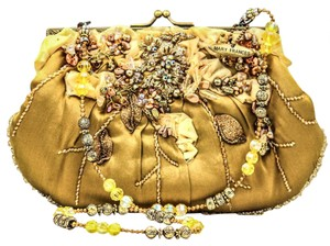 Mary Frances Gold Clutch