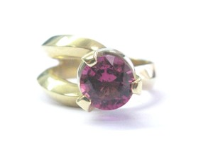 Other Fine Pink Rubellite Yellow Gold Solitaire Jewelry Ring 14Kt 3.00Ct
