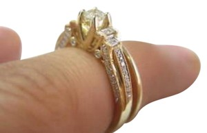 Other Fine Lady's Two Ring Diamond Wedding Royal Set 14KT Yellow Gold