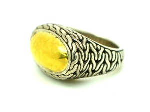 John Hardy John Hardy Ring Sterling Silver & 22kt Yellow Gold Two Tone Size 7