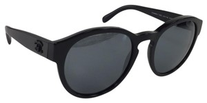 Chanel Like New Chanel 5359 C501/26 Round Black Gradient lens with Logo on Temple Plastic Style Sunglasses 140mm