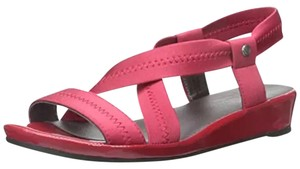 LifeStride Life Style Debutante Leather Flats Red Sandals